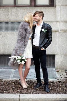 city hall wedding couple...