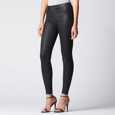 Love these black coated jeans