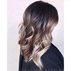 Balayage ombré. Color by @constancerobbins #hair #hairenvy #haircolor #brunette #balayage #ombre #highlights #newandnow #inspiration #maneinterest