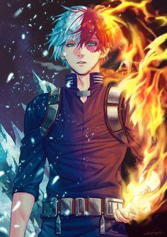 Todoroki Shouto - Boku no Hero Academia - Image - Zerochan Anime Image Board Boku No Hero Academia, My Hero Academia Memes, Hero Academia Characters, My Hero Academia Manga, Hot Anime Boy, Anime Boys, Manga Art, Anime Manga, Asui Boku No Hero