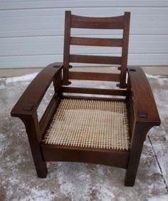 Gustav Stickley bow arm Morris chair