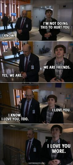 Quote from The Good Doctor │ Shaun Murphy: We are friends. Aaron Glassman: Yes, we are. Shaun Murphy: I love you. Aaron Glassman: I know. I love you, too. Shaun Murphy: I love you more. Good Doctor Cast, The Good Doctor Abc, Good Doctor Series, The Good Dr, Super Funny Quotes, Funny Quotes About Life, Funny Memes, Shaun Murphy, Doctor Quotes