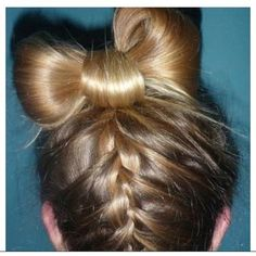 braided into bow