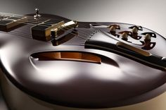 Tao Guitars - Phaeton - Hollowbody made from two pieces with elegant cut outs and high design pickup covers.