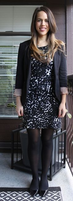 Jules in Flats - Abstract Print Jersey Dress & Blazer
