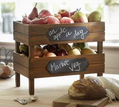 Stackable Fruit Crates from Pottery Barn