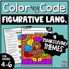 Figurative Language Color by Number | Thanksgiving