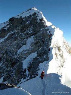 Climbers on the Hillary Step and above (John Black photo)