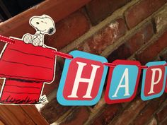 Snoopy birthday banner