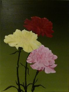 Oil Painting of ( Roses for the Lady ) is a 18 x 24 Inch Canvas   This is for my Wife