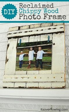 Reclaimed Wood Chic Picket Frame @Its_Overflowing