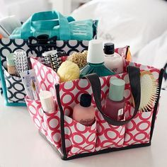 A shower caddy for all your toiletries is essential. Don't forget your essentials that go in it too! For more tips on what to bring, check out our move-in guide at http://issuu.com/unmhousing/docs/move_in_guide_2015