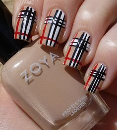 Cutie-cles: Burberry Nails