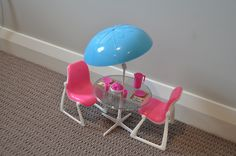 Barbie Dream Furniture Collection Patio Table And Chairs 1978