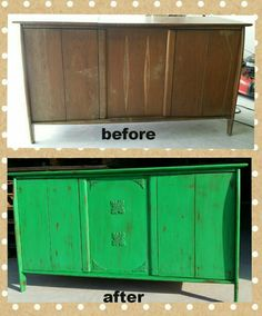 Repurposed this old stereo cabinet into a server/buffet. Used Studio ...