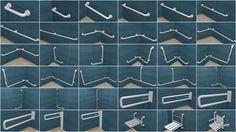 Poręcze dla osób niepełosprawnych ze stali nierdzewnej, Poręcze białe wykonane z rurki ocynkowanej, Poręcze w oplocie nylonowym z powłoką antybakteryjną , Poręcze ze stali nierdzewnej powierzchnia falista, Siedziska uchylne z podłokietnikami, Uchwyty dla niepełnosprawnych