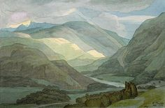 Rydal Water By Francis Towne British watercolour landscape painter. Born in Isleworth in Middlesex the son of a corn chandler. 1752: apprenticed leading coach painter, Thomas Brookshead, London. 1759 won a design prize from the Society of Arts Studied at St Martin's Lane Academy.