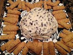 One of my favorites! Cream cheese chocolate chip ball with graham crackers