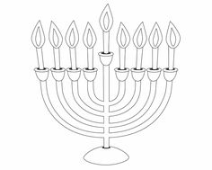 Easy to print menorah coloring page | Hanukkah | Pinterest | Menorah ...