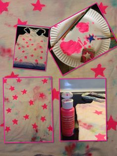 DIY t-shirt with star stamps