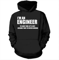 Engineer Hoodie Gift For Engineer Profession Occupation Hooded Sweatshirt 16be860414