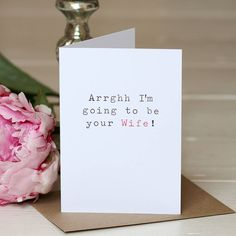 'Your Wife' Wedding Day Card for your husband-to-be