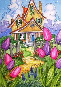alida akers иллюстратор: 1 тыс изображений найдено в Яндекс.Картинках Cute Cottage, Painting Flowers, Houses, City, Drawings, Image, Ink, Drawing Drawing, Homes