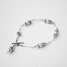 Crystal and Pearl Bracelet Delicate by BelleAtelierJewelry on Etsy, $52.00