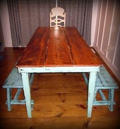 old wood plank tables - Google Search