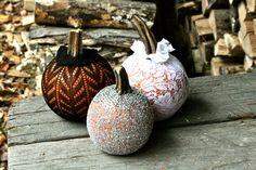 Lace Pumpkin Decorations