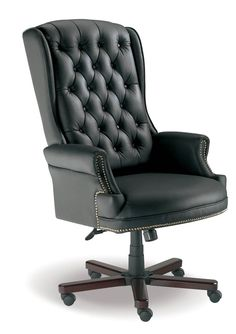 Judges Executive Office Chair with Wooden Base in Mahogany Home Design Decor, Office Interior Design, Office Interiors, Home Decor, Luxury Office Chairs, Executive Office Chairs, High Back Office Chair, High Back Chairs, Black Leather Chair