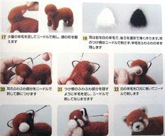 needle-felted red panda w/ japanese instructions