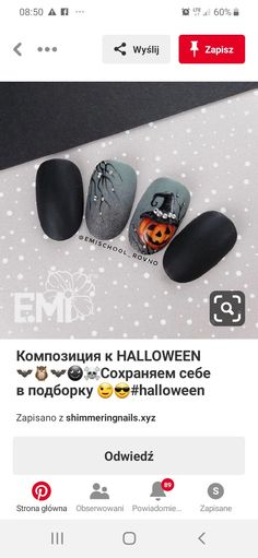 Gel Acrylic Nails, Gel Nail Art, Halloween Nail Designs, Halloween Nail Art, Get Nails, Hair And Nails, Holloween Nails, Nail Art Wheel, Gothic Nails