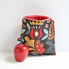 Reusable Snack Bags, Waxed Canvas bags, Beeswax Food Storage Snack Bag, Natural, Food Safe, and Eco Friendly Alternative to plastic bags