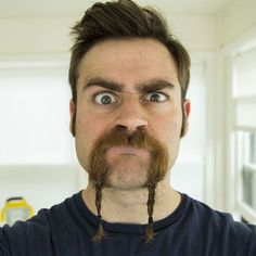 Braided Mustache - Best Braided Beard Styles For Men: How To Braid Your Beard #beard #beards #beardstyles #beardgang #beardedmen #facialhair #mensfashion #mensstyle #men Chin Beard, Goatee Beard, Beard Oil, Tight Braids, Small Braids, Cool Braids, Beard Styles For Men, Hair And Beard Styles, Short Buzz Cut