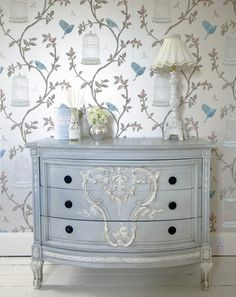 Papel pintado damasco vintage tnico gris de moda 40904 - Papel pintado dormitorio principal ...