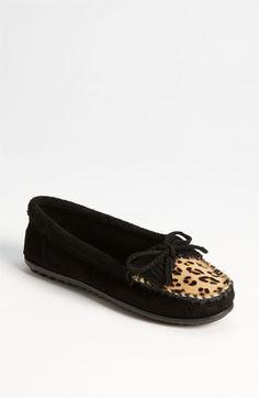 Minnetonka 'Leopard Kilty' Moccasin available at Nordstrom #want