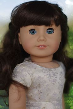 American Girl Doll Custom Samantha with Marie-Grace Blue Green eyes OOAK #DollswithClothingAccessories