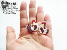 "Rooster and hen beaded Earrings Rustic style earrings Cottage chic earrings Cock Chicken earrings Provence earrings Village earrings "" Rooster and hen "" by Lady Lunar Cat.  Author's design, Japanese seed beads.  Size: width 2,5 cm / 0,78 inch, height 3 cm / 1,18 inch, weight 2,5 g / 0,07 ounces (Both earrings together)  Copying and plagiarism for commercial purposes without permission - is prohibited. 🐔🐔🐔🐔🐔🐔🐔🐔🐔🐔🐔🐔🐔🐔🐔🐔🐔🐔 You can buy this earrings in my Etsy shop…"