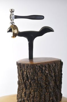 """""""The Magic Hammer"""": A sculpture made in honor of Bill Fretz's teacher, Hans Christiansen."""