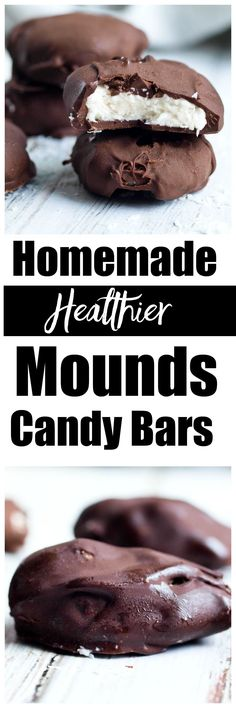 Homemade Mounds Bar Recipe. These are healthier than the store bought candy bars and really easy to make. Dairy-free and gluten-free dessert idea!