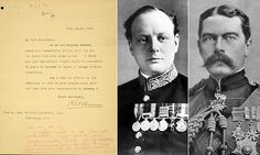 World War One letter from Kitchener to Churchill shows tension World War One, First World, Political Leaders, Politics, Vintage Lettering, Winston Churchill, Scripts, Wwi, Interesting Stuff