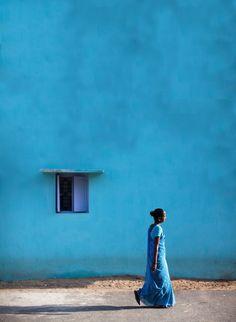 #window #blue #wall