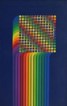 """Julio Le Parc""""Volume virtuel"""" (1974) Serigrafía"""