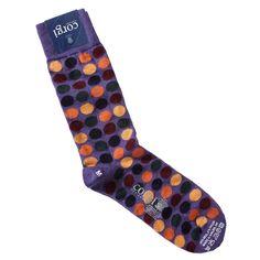 Corgi Socks Regular Spots Purple - Pediwear Accessories