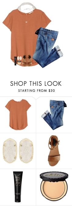 """""""Should I make a contest?!"""" by sydneefashion ❤ liked on Polyvore featuring H&M, Kendra Scott, Steve Madden, NARS Cosmetics and Too Faced Cosmetics"""