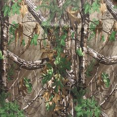 Realtree Xtra Green Camo Brushed Tricot Fabric (lightweight)