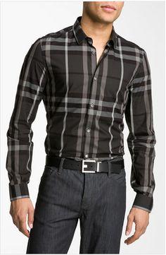 Burberry London 'Pembury' Plaid Sport Shirt.