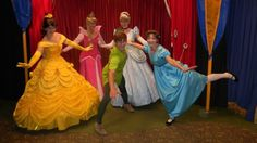 Belle from Beauty and the Beast, Aurora from Sleeping Beauty, Cinderella from self-titled & Peter and Wendy from Peter Pan