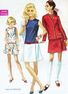 Mod 1960s Cute Culotte Dress and Jacket Pattern Mini Dress Skort Skirt Scooter Fun Summer Outfit or Tennis Simplicity 8098 Vintage Sewing Pattern